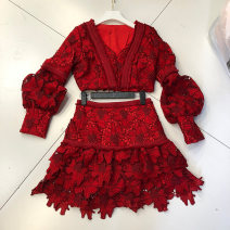 Fashion suit Autumn of 2019 S,M,L gules 18-25 years old Other / other 51% (inclusive) - 70% (inclusive)