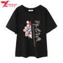 Women's large Spring 2021 Black white yellow Large L 110-130 Large XL 131-145 large 2XL 146-155 large 3XL 156-170 large 4XL 171-185 large 5XL 186-200 T-shirt singleton  commute easy moderate Socket Short sleeve Korean version Crew neck routine cotton Three dimensional cutting routine YA73990