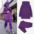 Fashion suit Winter 2020 S,M,L,XL,XXL,XXXL Purple [with velvet], purple [without velvet] 81% (inclusive) - 90% (inclusive) cotton