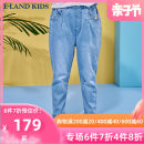 trousers E·LAND KIDS female 110cm 120cm 130cm 140cm 150cm 160cm 165cm indigo No season trousers leisure time There are models in the real shooting Leather belt middle-waisted Don't open the crotch Cotton 66.7% polyester 31.1% polyurethane elastic fiber (spandex) 2.2% EKTJB6321A