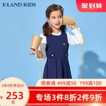 Dress Tibetan green female E·LAND KIDS 110cm 120cm 130cm 140cm 150cm 160cm 165cm Other 100% college other EKOMB6221A 5 years old, 6 years old, 7 years old, 8 years old, 9 years old, 10 years old, 11 years old, 12 years old, 13 years old, 14 years old