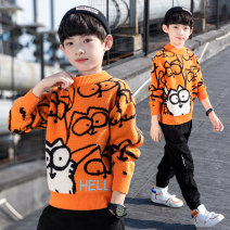 Sweater / sweater 110cm 120cm 130cm 140cm 150cm 160cm 170cm other male Orange white blue 1 2 3 4 Modern new human leisure time There are models in the real shooting Socket routine Crew neck nothing other Other 100% C0023 Long sleeves Autumn 2020 spring and autumn
