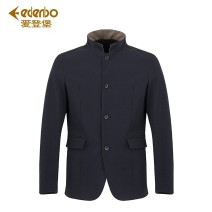 Jacket Edenbo / Edenburg Business gentleman navy blue 170/88A 175/92A 180/96A 185/100A 190/104A 195/108A 200/112A standard go to work autumn Other 100.00% stand collar short Single breasted Cloth hem Solid color Autumn of 2019
