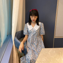 Dress Spring 2020 S, M Mid length dress singleton  Short sleeve commute Admiral Decor 18-24 years old Other / other More than 95% cotton