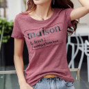 T-shirt S M L XL 2XL 3XL Spring 2021 Short sleeve Crew neck easy Regular routine commute cotton 86% (inclusive) -95% (inclusive) 25-29 years old Korean version other Letter solid color Henmeege / Han Meige LC409909119 Three dimensional decoration with printed stitching lines