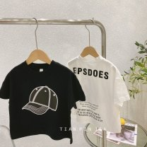 T-shirt Black hat t, white hat t Other / other 90cm,100cm,110cm,120cm,130cm,140cm currency summer Short sleeve Crew neck Korean version cotton Cartoon animation Other 100% Class A 7 years old, 8 years old, 3 years old, 6 years old, 18 months old, 2 years old, 5 years old, 4 years old Chinese Mainland