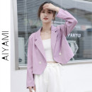 suit Spring 2021 Purple black white S M L XL Long sleeves have cash less than that is registered in the accounts easy tailored collar double-breasted routine Solid color 1056# 91% (inclusive) - 95% (inclusive) polyester fiber Aiya honey Button Other polyester 95% 5%