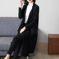 Women's large Autumn 2020 Caramel coffee black 2XL (for 125-140 kg) 3XL (for 140-155 kg) 4XL (for 155-170 kg) 5XL (for 170-185 kg) sweater singleton  commute easy moderate Cardigan Long sleeves Solid color Simplicity Medium length Three dimensional cutting routine R27010 Lady Rui Other 100%