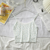 Vest sling Summer 2021 white Average size singleton  routine Self cultivation Versatile camisole other 18-24 years old 51% (inclusive) - 70% (inclusive) polyester fiber backless