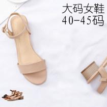 Sandals 36 40 41 42 43 44 45 Nude Brown nude flat black flat Brown flat black Feida Superfine fiber Barefoot Thick heel Middle heel (3-5cm) Summer of 2018 Sweet Microfiber skin JDA06 Sandals