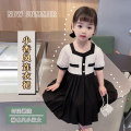 Dress milky white female Other / other 90cm,100cm,110cm,120cm,130cm Other 100% summer Little fragrance Short sleeve Solid color blending Splicing style ZLYM210018 Class B 18 months, 2 years, 3 years, 4 years Chinese Mainland Zhejiang Province