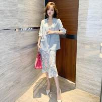 Outdoor casual suit Tagkita / she and others female 101-200 yuan two hundred and sixty point eight five S [recommended 80-95 kg], m [recommended 95-110 kg], l [recommended 110-125 kg], XL [recommended 125-135 kg], 2XL [recommended 110-125 kg] Blue, collect and purchase first summer Summer 2021
