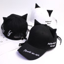 Hat cotton White black Adjustable Baseball cap Spring summer autumn female Sweet and lovely youth