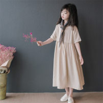 Parent child fashion Beige, same scarf Women's dress female Other / other 120cm, 130cm, 140cm, 150cm, 160cm, mom's average size spring and autumn leisure time routine skirt other Average size other 7, 8, 9, 10, 11, 12, 13, 14