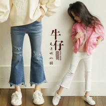 Parent child fashion Blue, white Women's dress female Other / other 110cm,120cm,130cm,140cm,150cm,160cm(S),165cm(M) spring and autumn leisure time routine Broken flowers trousers other M, S other 7, 8, 9, 10, 11, 12, 13, 14