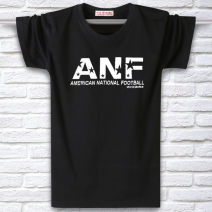 T-shirt other thin Others Short sleeve Crew neck easy daily summer Large size routine American leisure other 2017 other printing cotton other No iron treatment Domestic non famous brands More than 95%