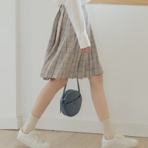 skirt Spring 2021 S,M,L Black, apricot Short skirt commute High waist A-line skirt lattice Type A 18-24 years old 51% (inclusive) - 70% (inclusive) other Korean version