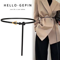 Belt / belt / chain top layer leather Black (regular 100cm) coffee (regular 100cm) Khaki (regular 100cm) black (extended 123cm) coffee (extended 123cm) Khaki (extended 123cm) female belt Versatile Single loop Middle aged youth Pin buckle Glossy surface Glossy surface 1cm alloy alone Songs GP-0971 no