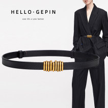 Belt / belt / chain Double skin leather female belt Versatile Single loop Middle aged youth a hook Glossy surface Glossy surface 1.8cm alloy alone Songs Winter 2020 no
