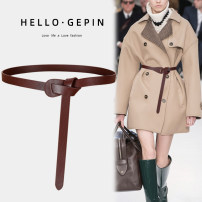 Belt / belt / chain Double skin leather Black coffee brown black (Extended Version) coffee (Extended Version) Brown (Extended Version) white red female belt Versatile Single loop Middle aged youth Glossy surface soft surface 1.8cm alone Songs GP-0792 Autumn and winter 2018 no