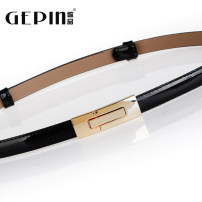 Belt / belt / chain Pu (artificial leather) Brown silver gold white red sapphire blue black female belt Versatile Single loop Middle aged youth Automatic buckle Glossy surface Patent leather 1.5cm alloy Naked candy color Songs GP-0451 96cm Summer 2015 no
