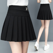 skirt Summer 2020 S,M,L,XL,2XL,3XL black Short skirt commute High waist Pleated skirt Solid color Type A 25-29 years old XZT-WXZSQ861 31% (inclusive) - 50% (inclusive) Other / other nylon fold Korean version