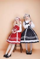 Lolita / soft girl / dress soufflesong Red, black L,M,S