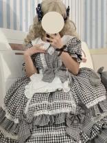 Lolita / soft girl / dress soufflesong Blue, black S,M,L,XL