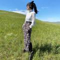 skirt Autumn 2020 S, M Leopard Print longuette Retro High waist skirt Leopard Print 30% and below knitting Half child wool