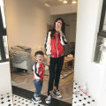 Parent child fashion gules Mother and son neutral Other / other 90cm 100cm 110cm 120cm 130cm mom one size fits all Bear spring and autumn leisure time routine Cartoon animation loose coat cotton L M S Polyester 100% Class B