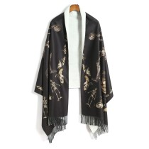 Scarf / silk scarf / Shawl Pashmina  Spring and autumn and winter currency Shawl keep warm other rectangle Students, parents and children, young, middle aged and old other tassels 189cm 70cm More than 96% L'armoire de Versailles Scarf 015