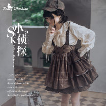 Lolita / soft girl / dress Sweetheart vending machine Little detective SK, little detective SK + official match S,M,L No season goods in stock Gothic style