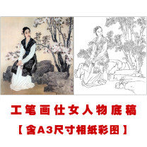 Traditional Chinese painting Others Do not refer to color map, print A3 reference color map Flower and bird pattern Physical printing sketch Others printing single width other