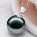 Neckwear Freshwater pearl Pendants White black gold circular Payment after re inspection shop warranty Silver inlay 9-10mm 11-12mm 13-14mm 15-16mm 45cm