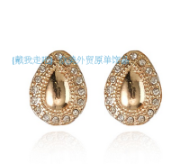 Ear Studs Alloy / silver / gold RMB 1.00-9.99 Other / other White Gold brand new Japan and South Korea female goods in stock Fresh out of the oven Gold Plated inlaid artificial gem / semi gem Love / water drop / bell ER-1003
