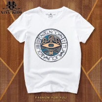 T-shirt Hip fish 120cm 130cm 140cm 150cm 160cm/S 165cm/M 170cm/L male summer Short sleeve Crew neck motion No model nothing Pure cotton (100% cotton content) other Cotton 100% DX-00028 Class B Sweat absorption Spring 2021
