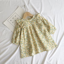 Dress 6011 yellow female Other / other 80cm,90cm,100cm,110cm,120cm,130cm Cotton 95% other 5% spring and autumn Long sleeves Broken flowers A-line skirt 12 months, 6 months, 9 months, 18 months, 2 years, 3 years, 4 years