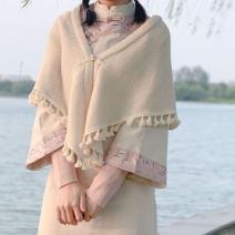 Scarf / silk scarf / Shawl polyester Knitted shawl, ball shawl, hooded shawl Spring and autumn, winter female Shawl decorate