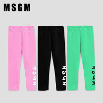 trousers MSGM female Default to send SF to pay, no mail!, Shangxin & special attention: dada11wang, 4a, 6a, 8a, 10a, 12a, 14a Black, green, gray, pink No season trousers leisure time There are models in the real shooting Leggings Leather belt middle-waisted cotton Don't open the crotch Cotton 100%
