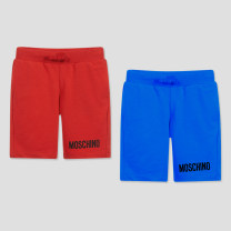 trousers MOSCHINO / MOSCHINO neutral Default to send SF to pay, no mail! , Shangxin & special attention V: dada9wang, 4a, 5A, 6a, 8a, 10a, 12a, 14a Gray, black, red, blue summer shorts leisure time There are models in the real shooting Sports pants Leather belt middle-waisted cotton HUQ002-LBA10