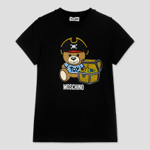 T-shirt White, black, red, blue, gray, dark blue MOSCHINO / MOSCHINO Default to send SF to pay, no mail! , Shangxin & special attention: dada11wang, 4a, 5A, 6a, 8a, 10a, 12a, 14a currency summer Short sleeve Crew neck leisure time There are models in the real shooting nothing cotton Brand logo other