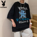 T-shirt Youth fashion Playboy / Playboy routine elbow sleeve Crew neck easy motion summer 110413AA3904 Cotton 100% teenagers routine tide Knitted fabric Cartoon animation Summer 2021 cotton Cartoon animation washing Fashion brand Pure e-commerce (online sales only) More than 95% Cool feeling