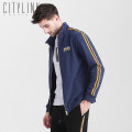 Jacket citylink tactic Youth fashion Blue grey M L XL XXL XXXL routine standard Other leisure spring JAD407 5% polyester cotton, 82 Long sleeves Wear out stand collar Exquisite Korean style youth short Zipper placket Rib hem No iron treatment Closing sleeve Solid color Spring 2021 Rib bottom pendulum