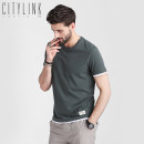T-shirt Youth fashion routine M L XL XXL XXXL citylink tactic Short sleeve Crew neck easy Other leisure summer T9538-3 Cotton 100% youth routine tide other Summer of 2019 Solid color Embroidered logo cotton washing More than 95%