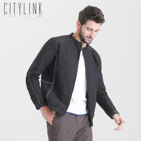Jacket citylink tactic Youth fashion Black grey M L XL XXL XXXL 4XL thin standard Other leisure autumn J1819-1 Polyester 100% Long sleeves Wear out stand collar Exquisite Korean style youth short Zipper placket Cloth hem No iron treatment Loose cuff Solid color Seldingham Autumn 2020 Inlay decoration