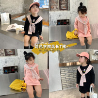 T-shirt Black, pink Other / other 80 (CICI), 90, 100, 110, 120 (mini), 130, 140 female spring and autumn Long sleeves Crew neck Korean version There are models in the real shooting nothing cotton Cartoon animation Cotton 95% other 5% Class B Sweat absorption
