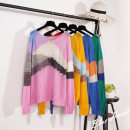 Wool knitwear Average code Fall of 2018 Pink, yellow, green, blue Long sleeve Sleeve Conventional models Single Thin section Commuting Loose conventional Colorblock Low round neck other 31% (inclusive) -50% (inclusive) Korean version Sleeve 25-29 years old