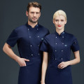 Work uniform Tianhao Shangxiu M L XL XXL XXXL 4XL 5XL cook jacket summer go to work Restaurant Cotton 50% polyethylene terephthalate (polyester) 50% Summer 2020 Exclusive payment of tmall
