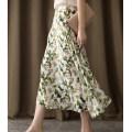 skirt Autumn of 2019 S,M,L,XL Apricot white fresh Broken flowers