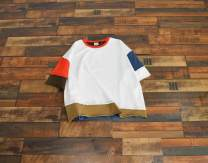 T-shirt Light grey, white Average size Summer 2021 Short sleeve Crew neck easy Regular routine street cotton 96% and above 25-29 years old originality Solid color, color matching, stitching Asymmetry, splicing, patching Sports & Leisure